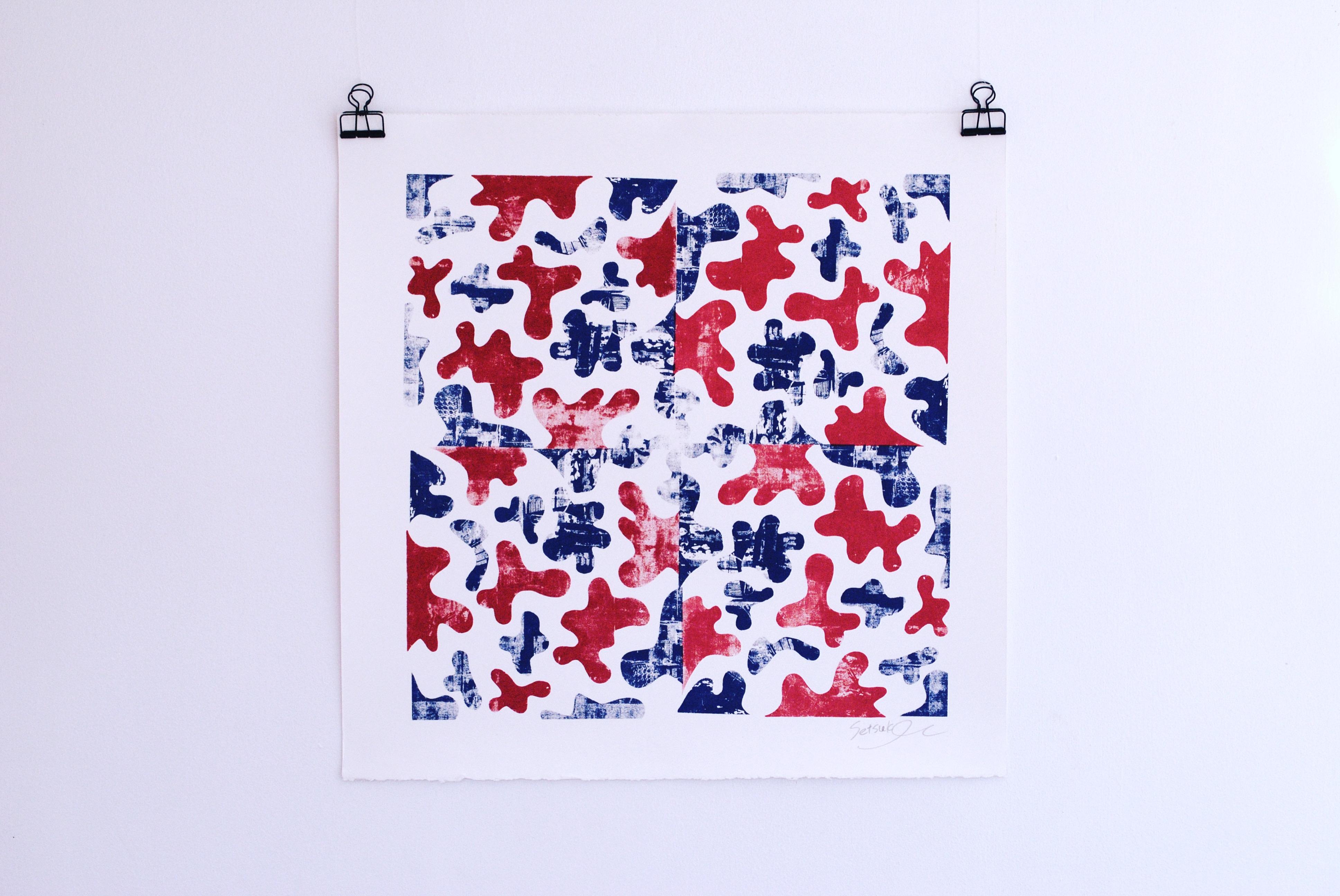 Monoprint on paper. 500 x 500 mm